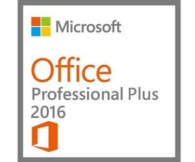 MS Office Professional Plus 2016 (Word, Excel, Outlook, Access, Powerpoint etc.)