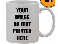 Custom printed ceramic mugs
