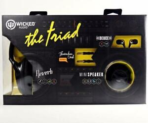 WICKED AUDIO THE TRIAD SET, BLACK, WI8240 !!! call or text 4166280042 !!!    SALE PRICE $39.99  SALE PRICE $39.99REGULAR