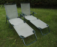 GARDEN, PATIO or CAMPING LOUNGE CHAIRS