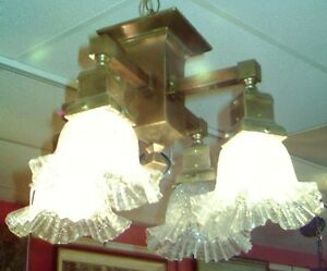 ANTIQUE ARTS & CRAFTS CEILING LIGHT FIXTURE West Island Greater Montréal image 2