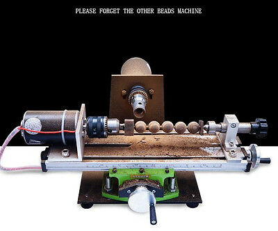 Mini Beads Lathe Machine Household Mini Lathe Diy Wood Beads Bench Drill New