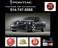 Pontiac G8 – Spindles and Axles • Broches et Essieux