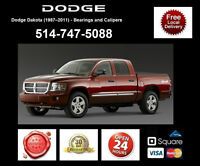 Dodge Dakota - Bearings and Calipers • Roulements et étriers