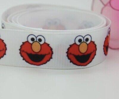 """Sesame Street inspired Elmo 7/8"""" Grosgrain Ribbon - By The Yard - USA Seller - Elmo Ribbon"""