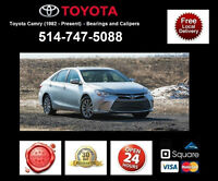 Toyota Camry – Bearings and Calipers • Roulements et étriers