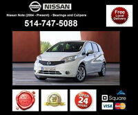 Nissan Note – Bearings and Calipers • Roulements et étriers