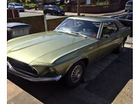 Ford Mustang 69 coupe 5.0 v8 open to offers classic car project on uk plates