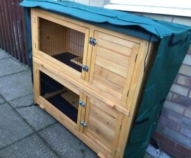 Rabbit hutches 4 ft wide assembled and flat packed