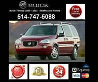 Buick Terraza - Brakes and Rotors • Freins et Disques