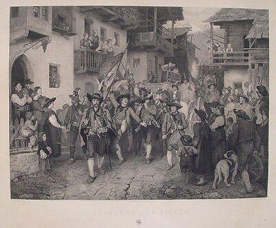 Defregger Südtirol Freiheitskämpfer Landsturm Schützen Napoleon Andreas Hofer