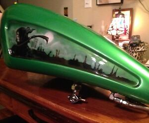 Custom stretch tank and front fender