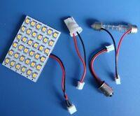 10pcs 12V Dome Bulb 36-1210SMD LED,Warm White +Adapter(BA9S/T10/