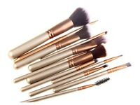Pre Order- Bliss & Grace 12 Piece Luxe Edition Makeup Brush Set - Gold