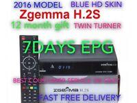 Zgemma H2S ✔️12 Month Gift ✔️HD Sky Skin✔️PLUG & PLAY✔️AUTO UPDATE
