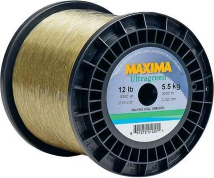 Maxima 600 Yd Spool 8 - 20 lb Ultragreen Fishing Line