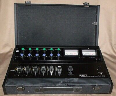 Vintage SONY MX-670 6 Channel Microphone Mixer Untested. NR!