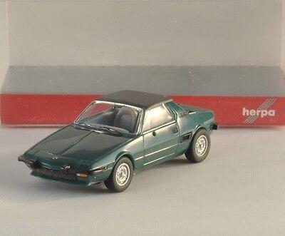 HERPA Fiat X1/9 verde scuro modello auto per Plastico carro bisarca H0 1:87
