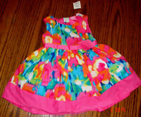 A beautiful, NEW colorful dress for a little girl of 12-18 month