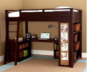 Bunk bed with desk (2)