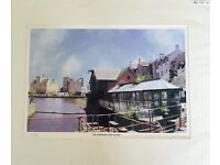 Waterfront Port of Leith Print, signed and numbered