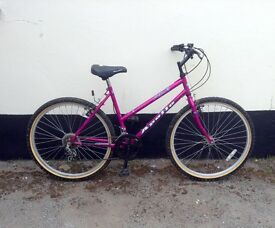 "LADIES MOUNTAIN BIKE 18"" FRAME £45"