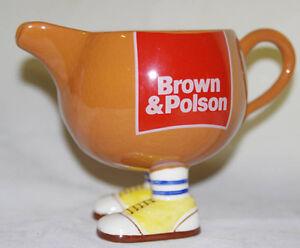 Brown and Polson walking gravy jug boat