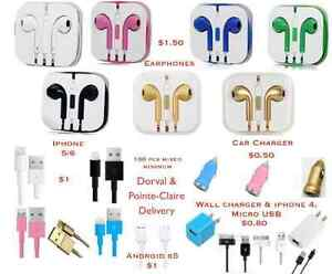 Accessories earphones chargers iphone android Samsung