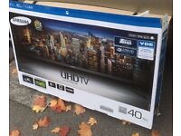 """Samsung 40"""" 4K UHD SmartTV with warranty.I can deliver"""