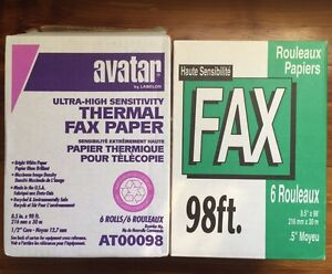 Thermal Fax Paper Rolls - 7 rolls