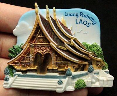 Resin 3D Fridge Magnet: Luang Prabang, LAOS TOURIST Gift 002 FreeShipping