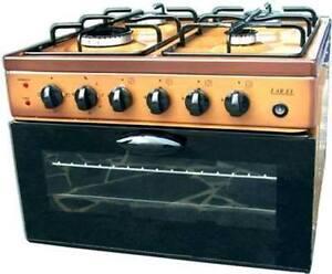 Fornello da campeggio a gas baby cucina 50x50 MARRONE piano cottura con forno  eBay