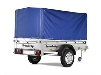 Brenderup 1205 camping trailer with high tarp
