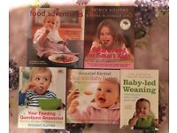 5 baby weaning books Recipes and purée ideas