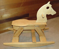 Unfinished Wooden Rocking Horse