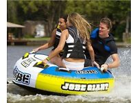 """Jobe Giant Towable Inflatable TUBE 71"""" 3 MAN WITH TOW ROPE"""