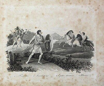Steinschleuder Rom Antike Militär Equites Speerträger Reiter Slingshot Wurfstern
