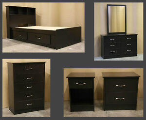 Twin Single Bedroom Set Brand New Espresso
