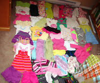 Lot (47 items) of a little girl's clothing for 6-12 months