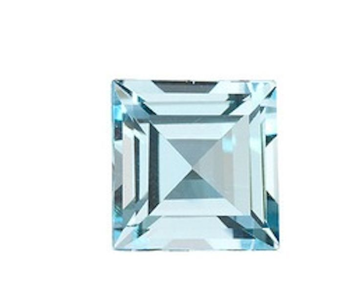 Natural Sky Blue Topaz AAA Square Step-Cut Faceted Loose Stones (2x2mm-15x15mm)
