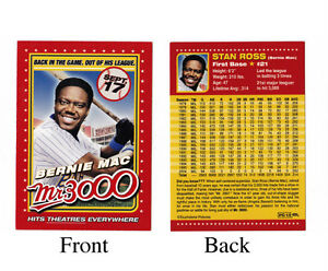 Rare mr 3000 bernie mac baseball card movie promotional for Touchstone promotional products