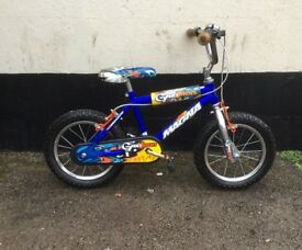 "BOYS MAGNA BIKE 14"" WHEELS £20"