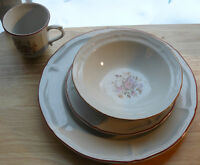1 SET of vintage heavy Stoneware dishes Downsizing my mother-in-