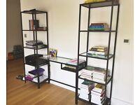 IKEA Vittsjo Glass Desk/Shelving Unit (+ FREE printer)