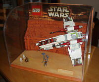 RARE LEGO STAR WARS STORE DISPLAY avec le RÉPUBLIC GUNSHIP, 2002