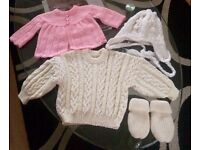 NEW!!! CARDIGANS GLOVES HAT for BABY GIRLS