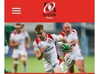Ulster rugby seated tickets memorial stand