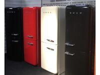 RESPECTED SELLER! EXCELLENT REFURBED GLOSSY SMEG FAB32 fridge freezer with Full Warranty & delivery