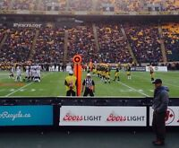 4ea FRONT ROW Tickets on 30yd line all remaining Eskimos games