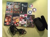 Sony PSP with 9games, 1 film and case